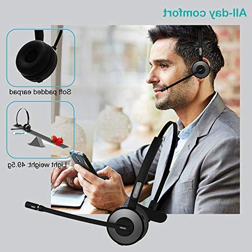 Phone,YAMAY Headset Microphone Station,Noise Cancelling Handsfree Bluetooth Headset Trucker Office Android