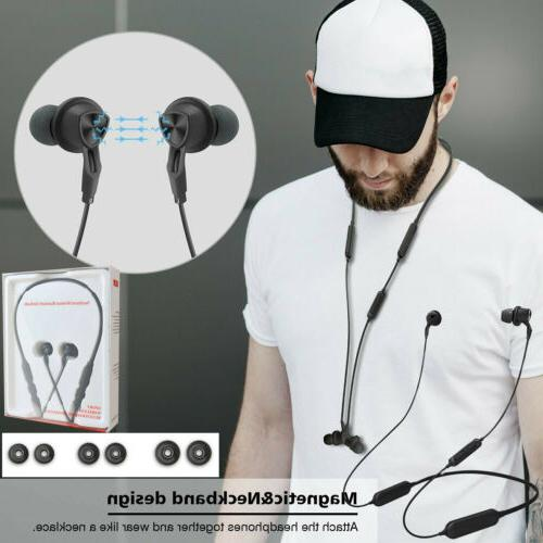 bluetooth noise cancelling earphones wireless stereo earbuds