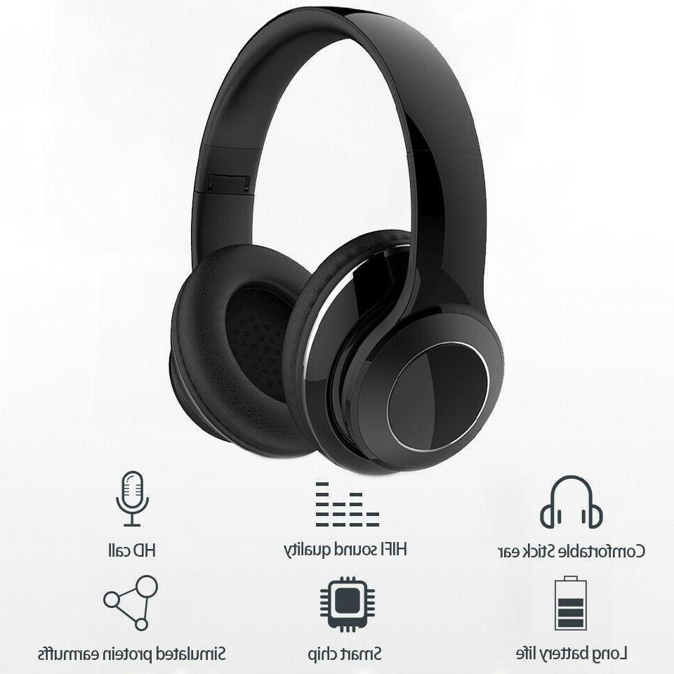 Bluetooth Noise Headphones Over Ear Stereo Wireless Headset