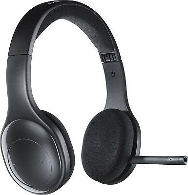 ** H800 Binaural Over-the-Head Wireless Headset, 4 ft Range,