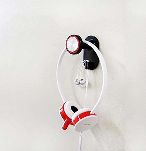 headphone holder headphone hanger with cable clip
