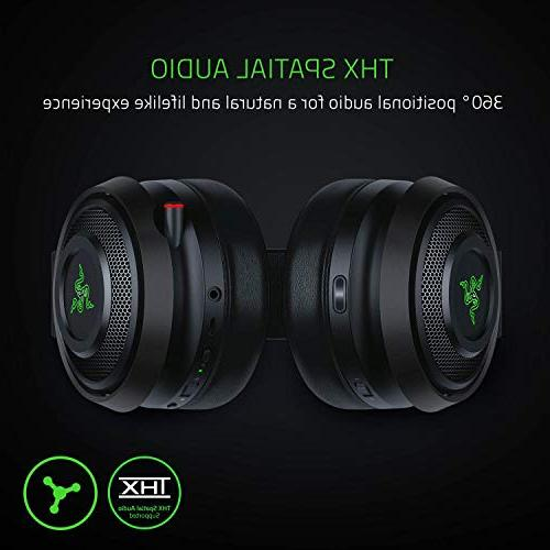 Razer Ultimate: Spatial Audio – Technology 2.4GHz Audio Cooling Cushions - Gaming Works with PC, PS4, Mobile Devices
