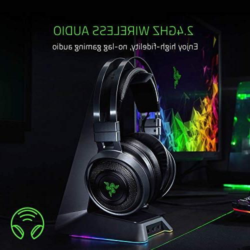 Razer THX Spatial Technology - 2.4GHz Wireless Audio – Cooling Cushions Works PS4, Xbox Mobile