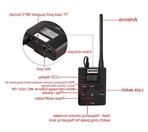 EXMAX Portable Stereo Headsets FM Radio Tour Guide Teaching Training Field Interpretation - 1 10