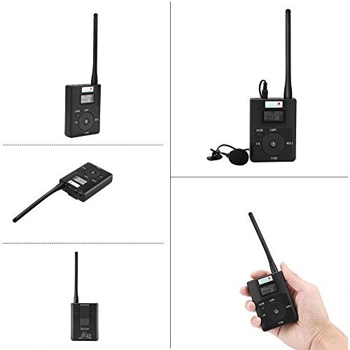 EXMAX Portable Stereo Radio Broadcast Tour Guide Teaching Meeting Training Field Interpretation - 1 10 Receivers
