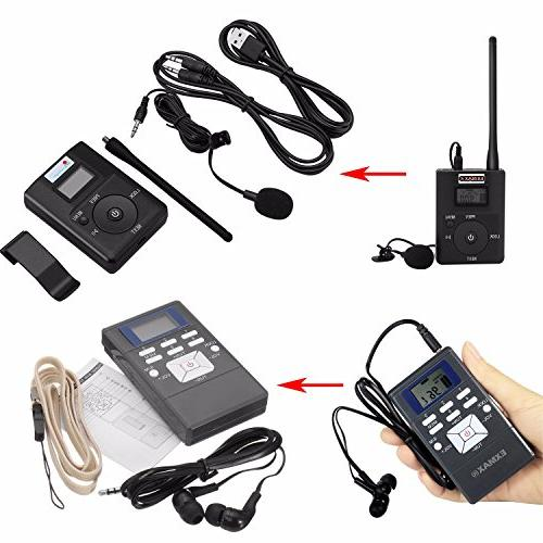 EXMAX Radio System for Tour Training Travel Field Interpretation - 1 and 10 Receivers Gray