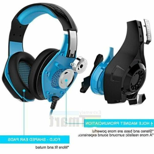 Pro Wired XBOX With Mic Stereo Headphones Microphone HOT