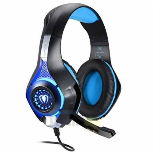 For PS4 Xbox Nintendo Switch PC 3.5mm Stereo Headphones Mic