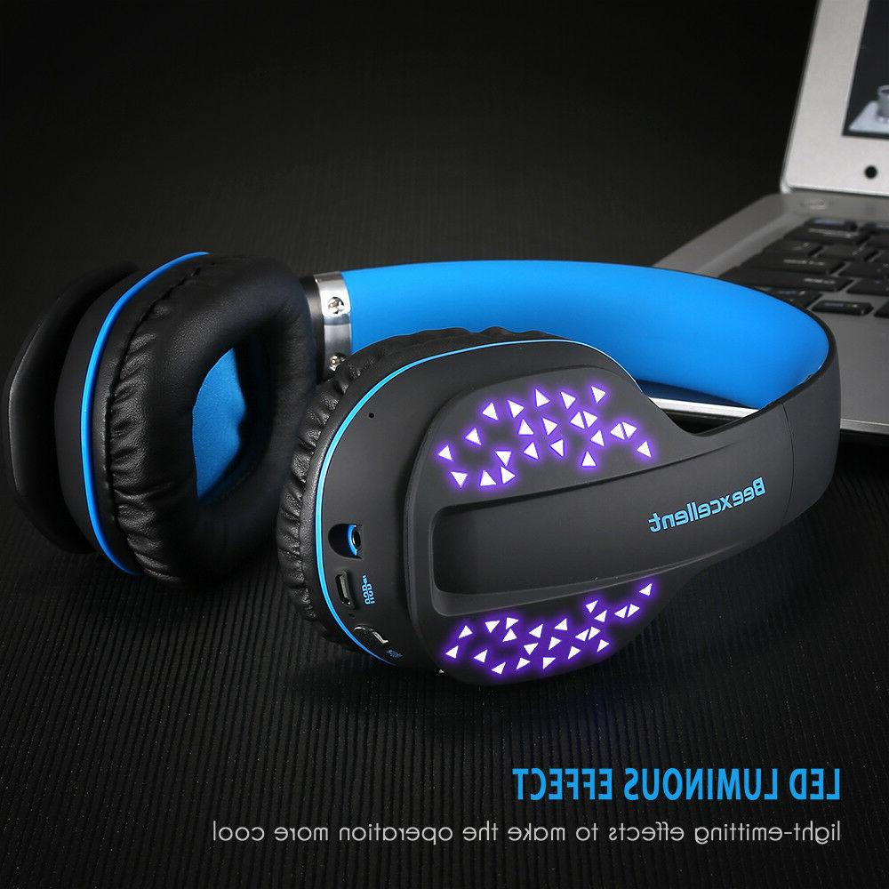 q2 bluetooth gaming headset wireless led headphones