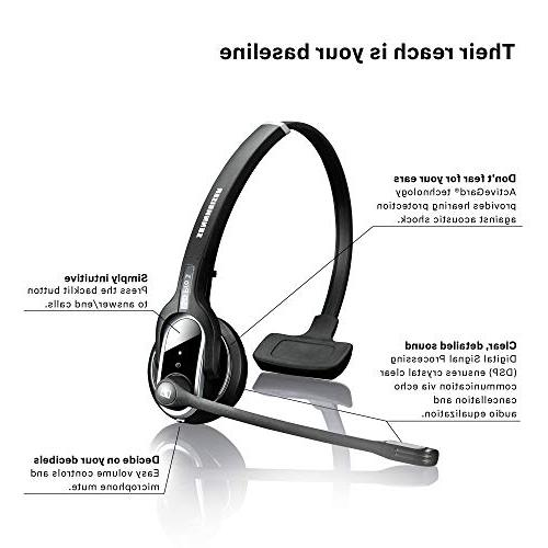 Sennheiser SD 1 - Single-Sided Dual Connectivity Wireless Desk Phone Connection, Noise-Cancelling