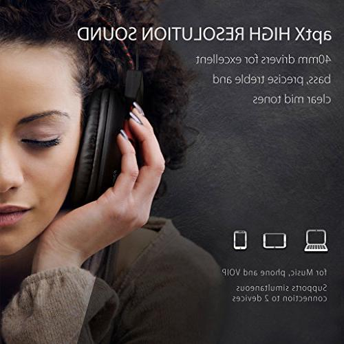 Avantree 40 Wired Headphones with Mic, HiFi COMFORTABLE and NFC, Stereo for PC Laptop Audition