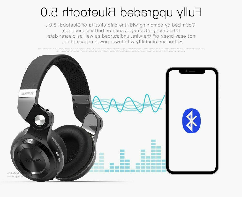 Bluedio T2S 5 Stereo Microphone Wireless Headsets B
