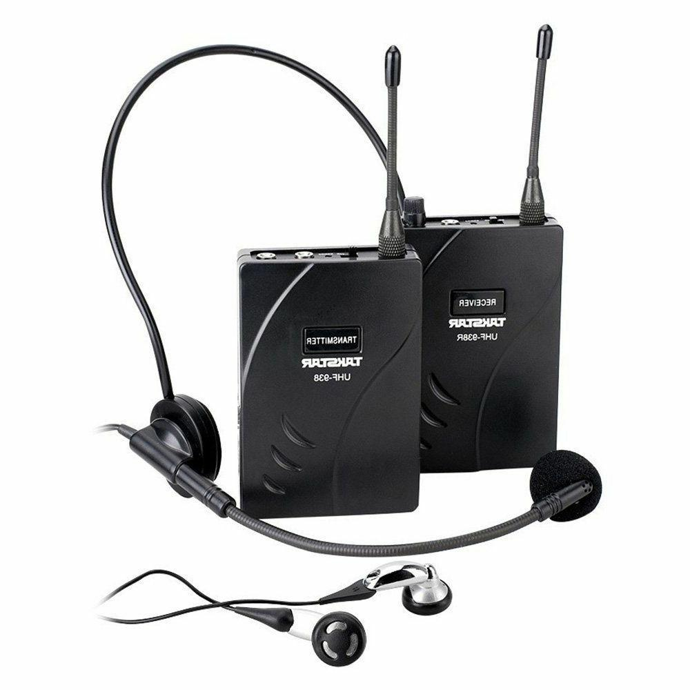 EXMAX Wireless Audio Headset Tour Guide System UHF-938 1 Tra