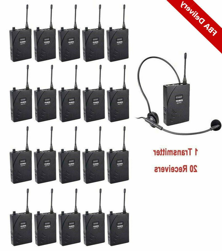 uhf 938 wireless tour guide system audio