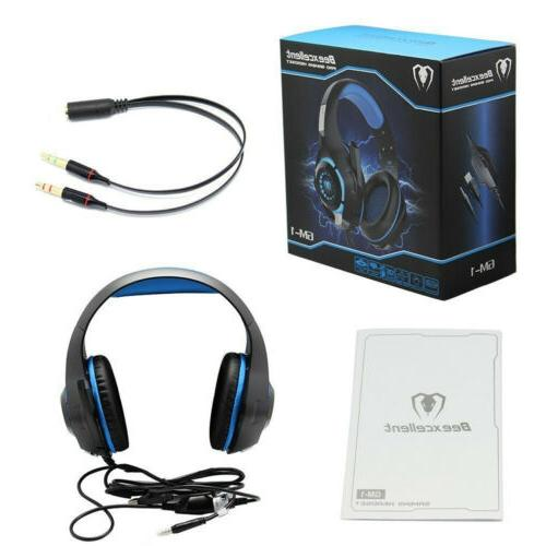US Beexcellent Gaming Headphones PC