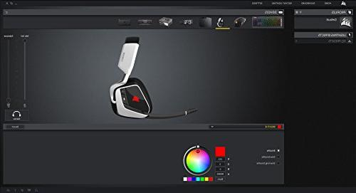 CORSAIR PRO RGB Dolby 7.1 Sound Headphones for - Discord - Drivers White
