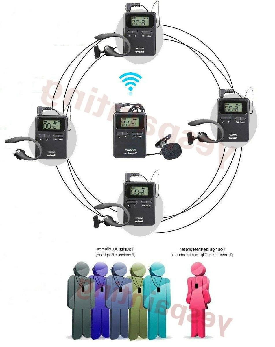 EXMAX WDT-99 UHF Wireless Tour Guide Microphone Church