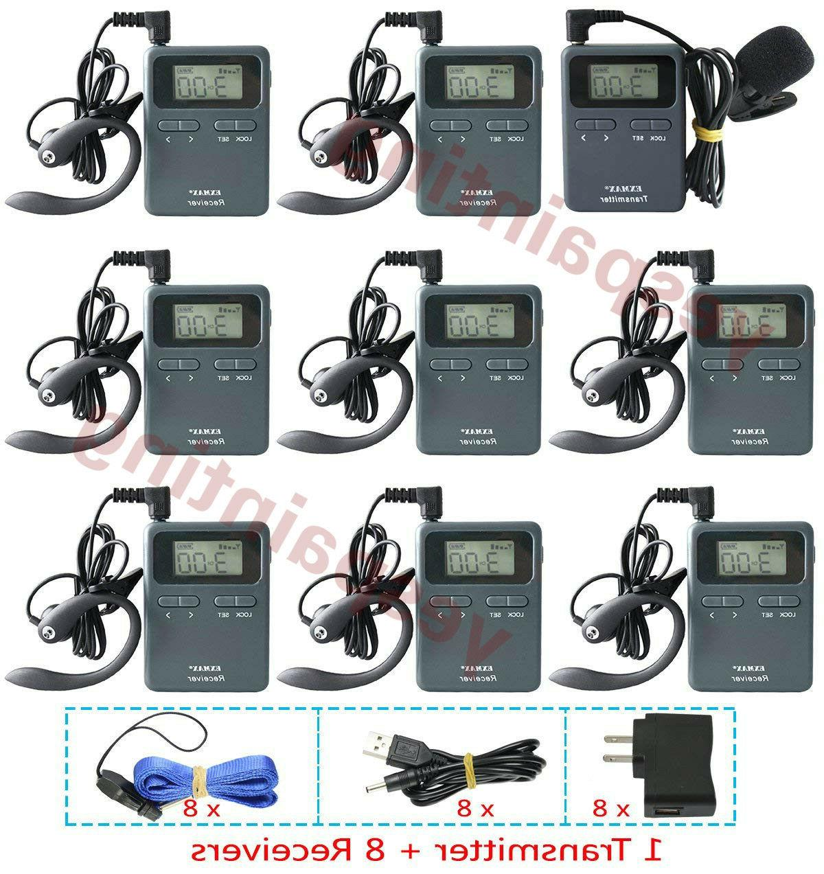 wdt 99 uhf wireless tour guide system
