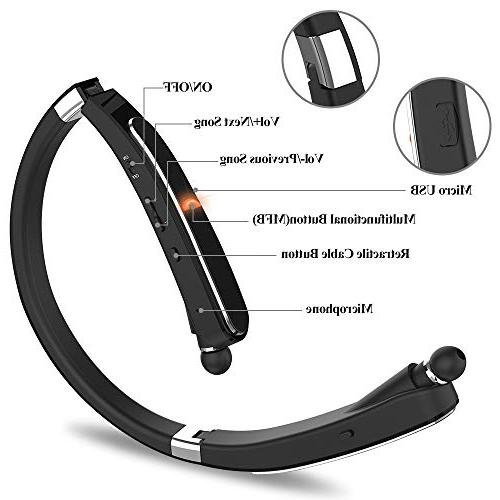 Wireless Bluetooth Headset, Compatible Xs Plus Galaxy S9 Note