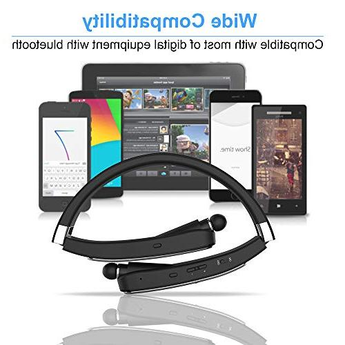 Wireless Bluetooth Headset, Foldable Compatible Xs MAX/ 8/7 Plus Galaxy Note 8 Cellphones