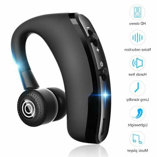 wireless bluetooth headset earbud hands free earpiece
