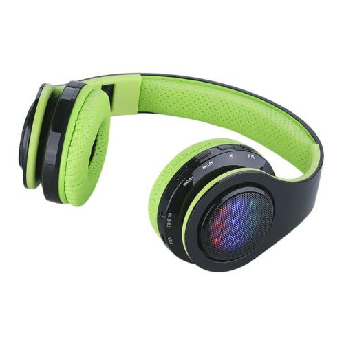 Wireless Stereo Headphones SD AUX New