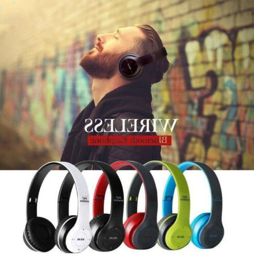 Wireless Headphones Foldable Cancelling Over Ear W/ Mic