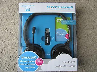 New Wireless Headset Business for Skype or & Mac
