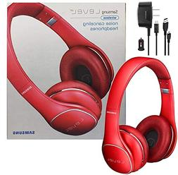 Samsung Level On Wireless Noise Canceling NFC Headphones Red