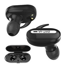 Wireless Stereo Earbuds Black Multifunction Button Dual Mic