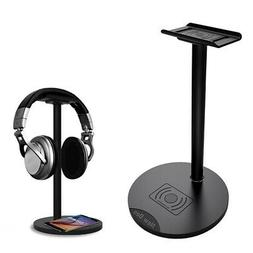 New Bee 2 in 1 Qi Wireless Charger Headphone Stand Aluminum