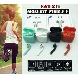 New i12 TWS Bluetooth 5.0 Headphone Wireless Earbuds Touch H