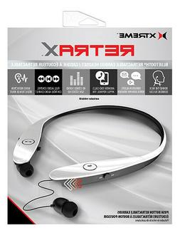 New Xtreme Retrax Bluetooth Retractable Earbuds Headphone He