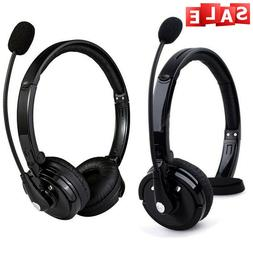 2 Pack Mpow Bluetooth Wireless Over The Head Boom Mic Headset for Driver Trucker