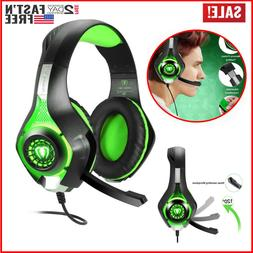 Pro Gaming Headset With Mic Pc XBOX One Wireless PS4 Compute