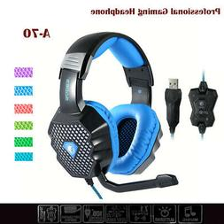 Pro Gaming Headset With Mic Wireless Headphones Microphone F