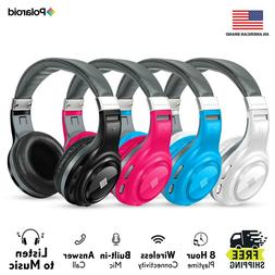 Polaroid Rechargeable Bluetooth Wireless Headphones, HD Ster