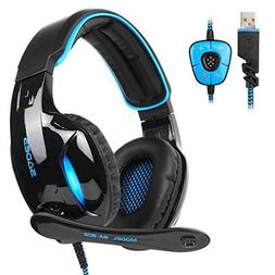 SADES SA902 7.1 USB Surround Sound PC Headsets Over-Ear Gami