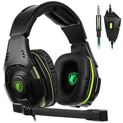 SADES SA938 PS4 Xbox ONE PC Gaming Headset,Over The Ear Head