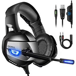 ONIKUMA Stereo  Gaming Headset PS4, Xbox One, PC, PS3, 7.1 S