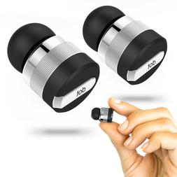 True Wireless Bluetooth Earbuds w/ Mic & Noise Reduction Tec