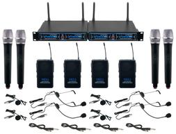 VocoPro UDH-4-ULTRA Wireless System 4 Channels Microphones B