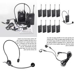 uhf 938 acoustic transmission wireless headset microphone