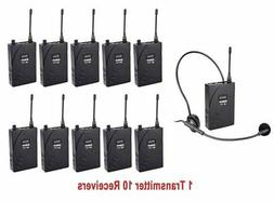 EXMAX UHF-938 UHF Acoustic Transmission Wireless Headset Mic