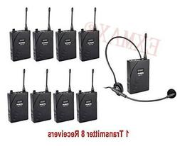 uhf 938 wireless headset microphone system strage