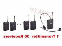 EXMAX UHF-938 Wireless headset System for Church Train 1 Tra