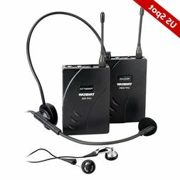 EXMAX UHF Wireless Tour Guide Church Translation System UHF-