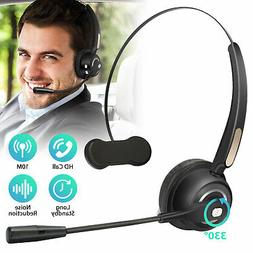 Wireless Bluetooth Headset Noise Cancelling Over the Head Bo