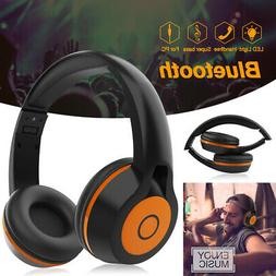 Universale LED Glowing Wireless/Wired Bluetooth Headphones H