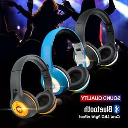 Universale LED Wireless/Wired Bluetooth Headphones Headsets